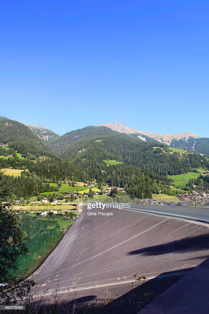 South Tyrol, turists at Lago di Zoccolo. : Stock Photo