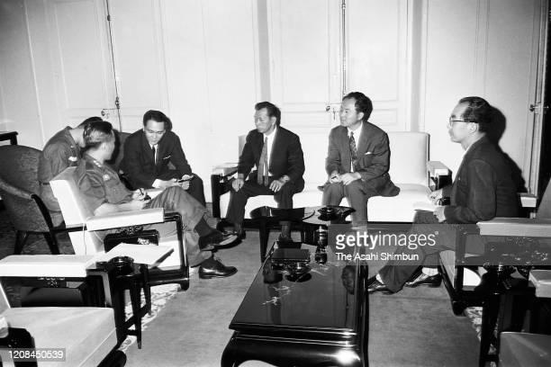 South Vietnam General Nguyen Van Thieu speaks during the Asahi SHimbun interview on August 21 1964 in Saigon South Vietnam