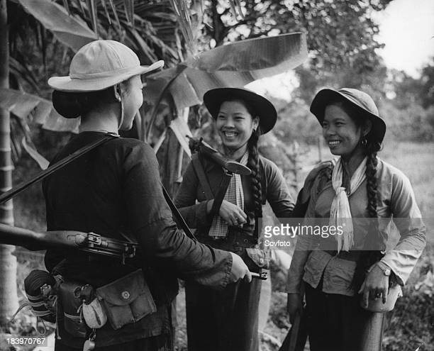 South Vietnamese women communist guerrillas Vietnam War 1966
