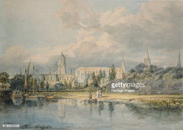 South View of Christ Church etc from the Meadows 17981799 Oxford Almanack for 1799 Dimensions height x width sheet 315 x 451 cm