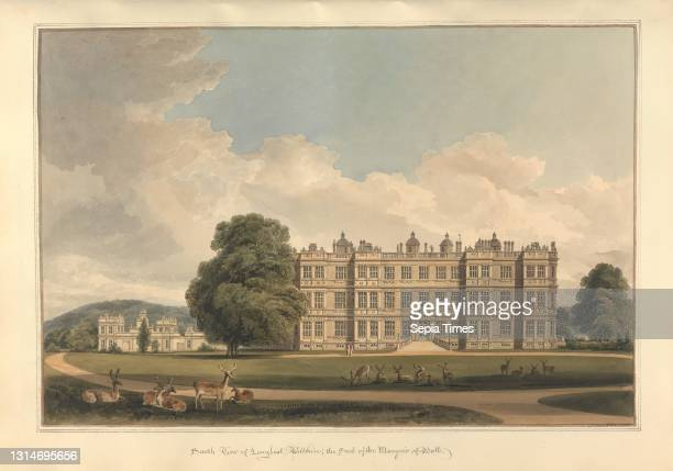 South View of Longleat, Wiltshire; the Seat of the Marquis of Bath, John Buckler FSA, 1770–1851, British, and John Chessell Buckler, 1793–1894,...