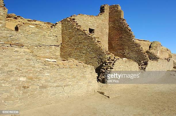 South Wall Pueblo Bonito Chacoan Great House Anasazi Hisatsinom Ancestral Pueblo Site Chaco Culture National Historical Park Chaco Canyon Nageezi New...