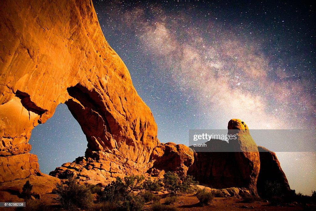 South Window, Parque Nacional de Arches, Utah : Foto de stock