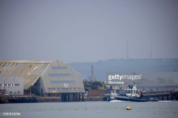 South Yard, the site of the Devonport freeport in Plymouth, U.K., on Thursday, March 4, 2021. U.K. Chancellor Rishi Sunak unveiled Devonport among...