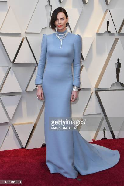 Southafrican actress Charlize Theron arrives for the 91st Annual Academy Awards at the Dolby Theatre in Hollywood California on February 24 2019