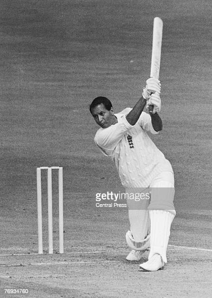 SouthAfrican born cricketer Basil D'Oliveira batting for England against Australia on the second day of the Fifth and final Test at the Oval London...