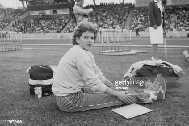 South-African middle-distance and long-distance runner Zola Budd at Crystal Palace, London, UK, 13th July 1984.