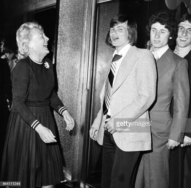 Southampton 10 Manchester United Reception after FA Cup Final Win at The Talk of the Town London Saturday 1st May 1976 Bobby Stokes telephones his...