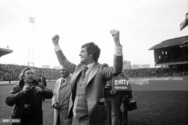 Southampton 2-0 Crystal Palace. FA Cup Semi Final. Pictured, Southampton Manager Lawrie McMenemy celebrating. Stamford Bridge, London. Saturday 3rd...