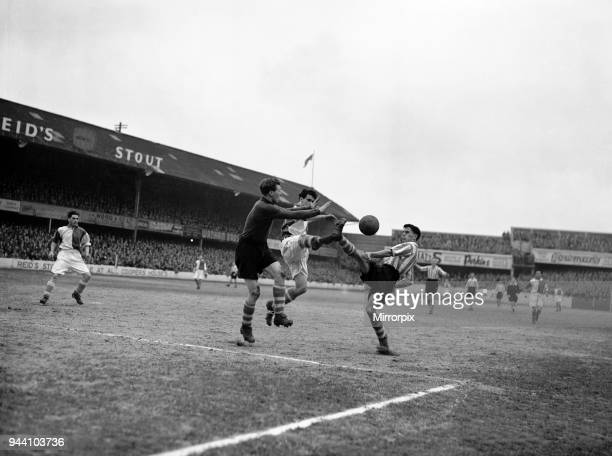 Southampton 2-1 Blackburn Rovers, League match at The Dell, Saturday 1st March 1952.