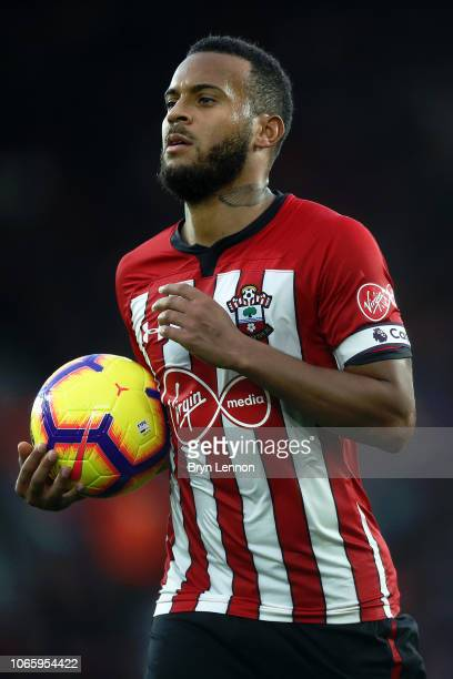Southampton Captain Ryan Bertrand looks on during the Premier League match between Southampton FC and Watford FC at St Mary's Stadium on November 10...