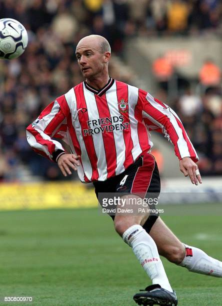 Southampton Chris Marsden in action for Southampton in the FA Barclaycard Premiership game between Southampton v Leeds at St Mary's Stadium...