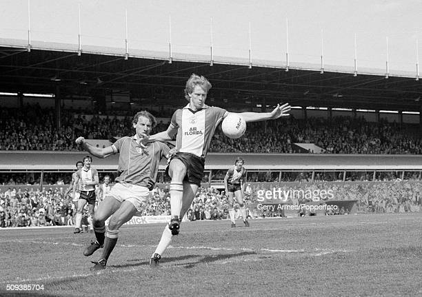 Southampton defender Mark Wright steps in to control the ball in front of Birmingham City striker Robert Hopkins during their First Division match at...