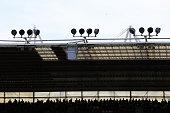 southampton england southampton fan silhouette during