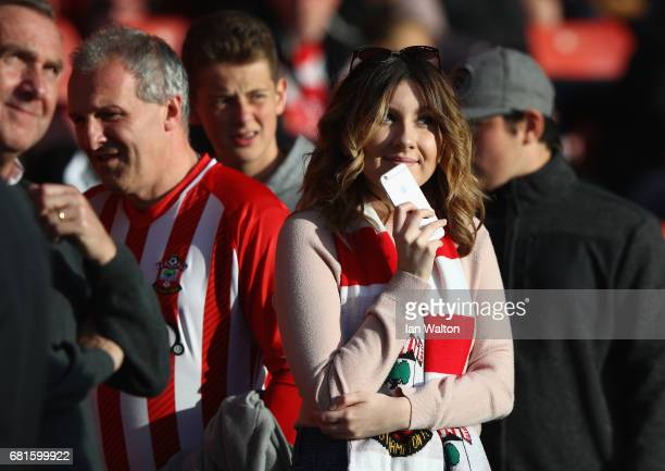 Southampton fan looks on prior to the Premier League match between Southampton and Arsenal at St Mary's Stadium on May 10 2017 in Southampton England