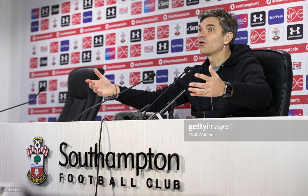 Southampton FC manager Mauricio Pellegrino during a press conference at the Staplewood Campus on February 22, 2018 in Southampton, England.