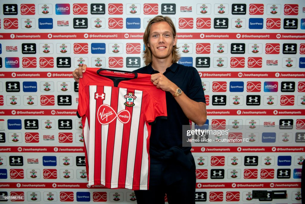 Southampton FC sign central defender Jannik Vestergaard pictured at Staplewood Complex on July 11, 2018 in Southampton, England.
