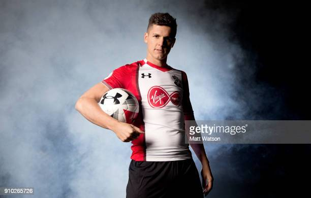 Southampton FC sign Guido Carrillo from AS Monaco on a contract until June 2021 pictured at the Staplewood Campus on January 25 2018 in Southampton...