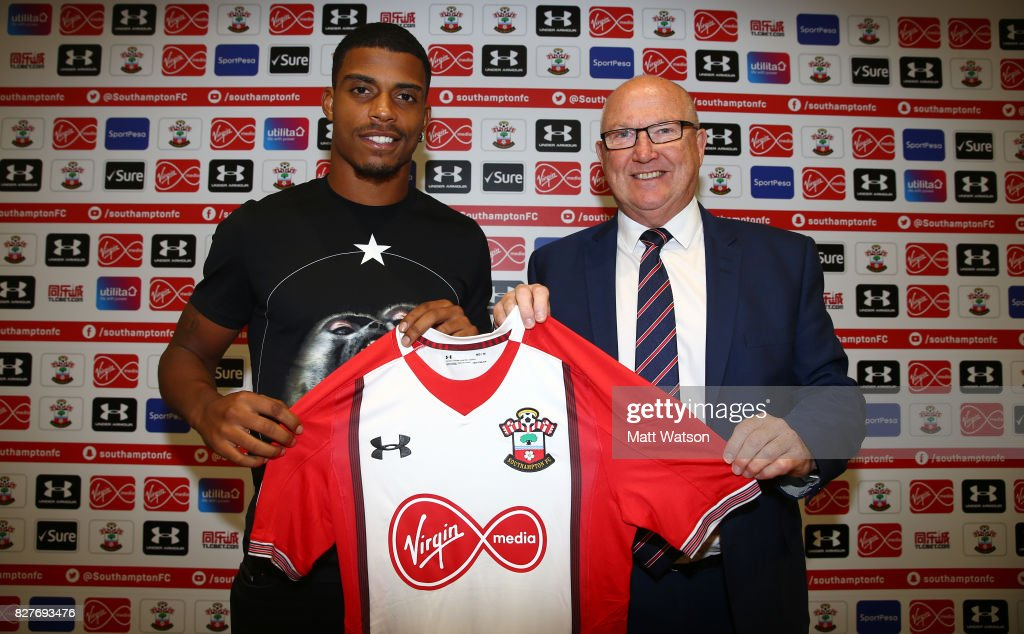 Southampton FC sign Mario Lemina from Juventus on a 5 year contract, pictured at the Staplewood Campus with Vice Chairman Les Reed, on August 8, 2017 in Southampton, England.