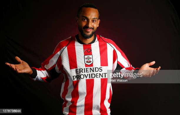 Southampton FC sign Theo Walcott on a season-long loan deal, pictured in a retro Saints kit that he wore when making his debut in 2005, on October...