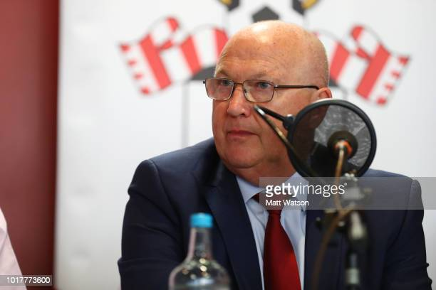 Southampton FC Vice Chairman Les Reed during a Southampton FC Fans Forum at St Marys stadium on August 16 2018 in Southampton England