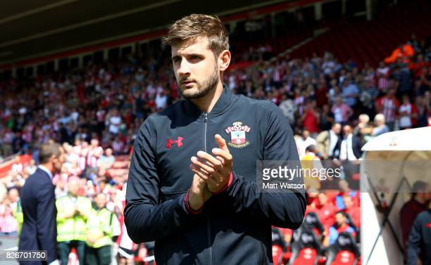 Southampton FC's Jack Stephens during the preseason friendly between Southampton FC and Sevilla at St Mary's Stadium on August 5 2017 in Southampton...