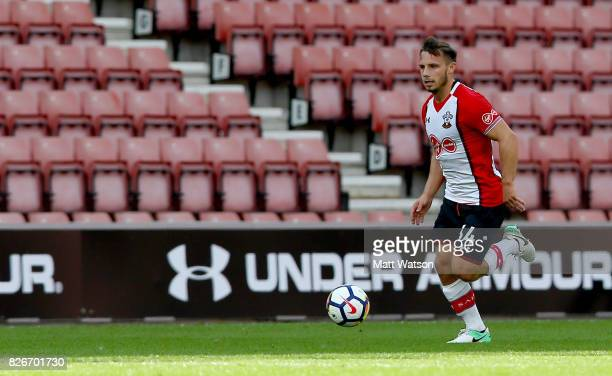 Southampton FC's Jake Flanniagn during the preseason friendly between Southampton FC and Sevilla at St Mary's Stadium on August 5 2017 in Southampton...