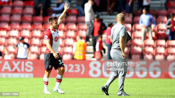 Southampton FC's Jake Flannigan during the preseason friendly between Southampton FC and Sevilla at St Mary's Stadium on August 5 2017 in Southampton...