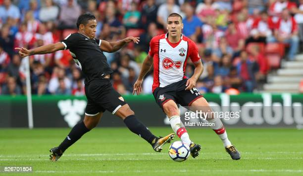 Southampton FC's Oriol Romeu during the preseason friendly between Southampton FC and Sevilla at St Mary's Stadium on August 5 2017 in Southampton...