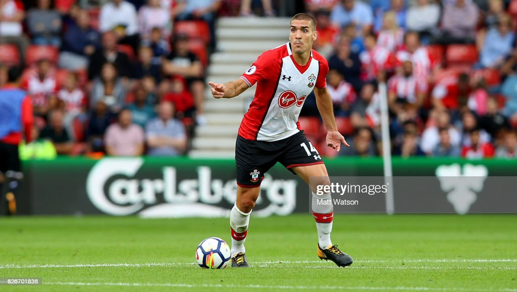 Southampton FC's Oriol Romeu during the pre-season friendly between Southampton FC and Sevilla at St. Mary's Stadium on August 5, 2017 in Southampton, England.