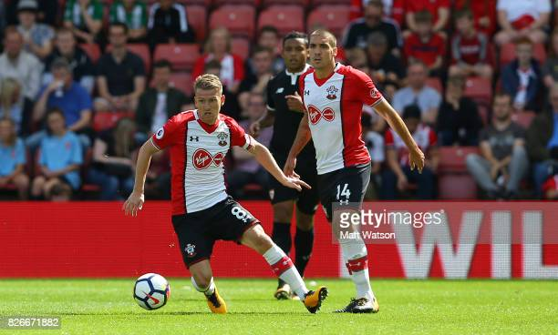 Southampton FC's Steven Davis during the preseason friendly between Southampton FC and Sevilla at St Mary's Stadium on August 5 2017 in Southampton...