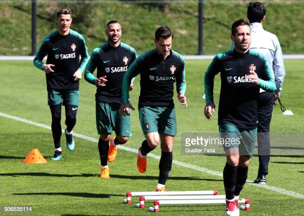 Southampton Football Club and Portugal defender Cedric Soares in action during Portugal National Team Training session before the friendly matches...