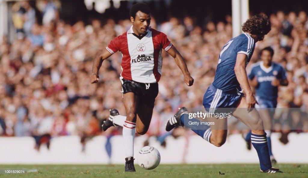 Danny Wallace Southampton v Manchester United 1983 : News Photo