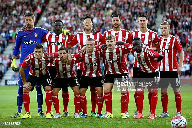 Southampton lineup prior to the UEFA Europa League Third Qualifying Round 1st Leg match between Southampton and Vitesse at St Mary's Stadium on July...