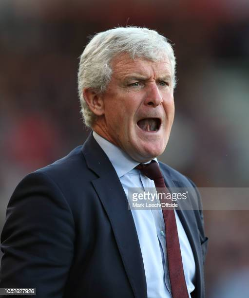 Southampton manager Mark Hughes during the Premier League match between AFC Bournemouth and Southampton FC at Vitality Stadium on October 20 2018 in...