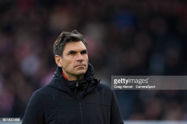 Southampton manager Mauricio Pellegrino during the Emirates FA Cup Third Round match between Fulham and Southampton at Craven Cottage on January 6...