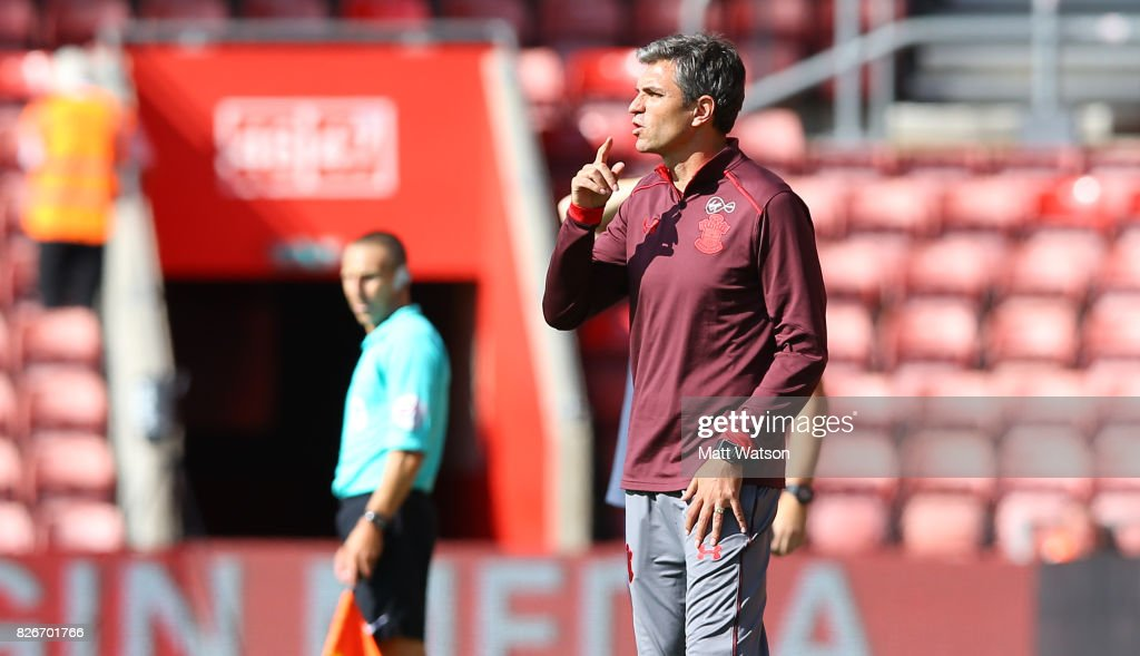 Southampton manager Mauricio Pellegrino during the pre-season friendly between Southampton FC and Sevilla at St. Mary's Stadium on August 5, 2017 in Southampton, England.