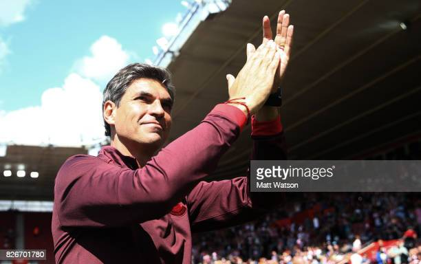 Southampton manager Mauricio Pellegrino during the preseason friendly between Southampton FC and Sevilla at St Mary's Stadium on August 5 2017 in...