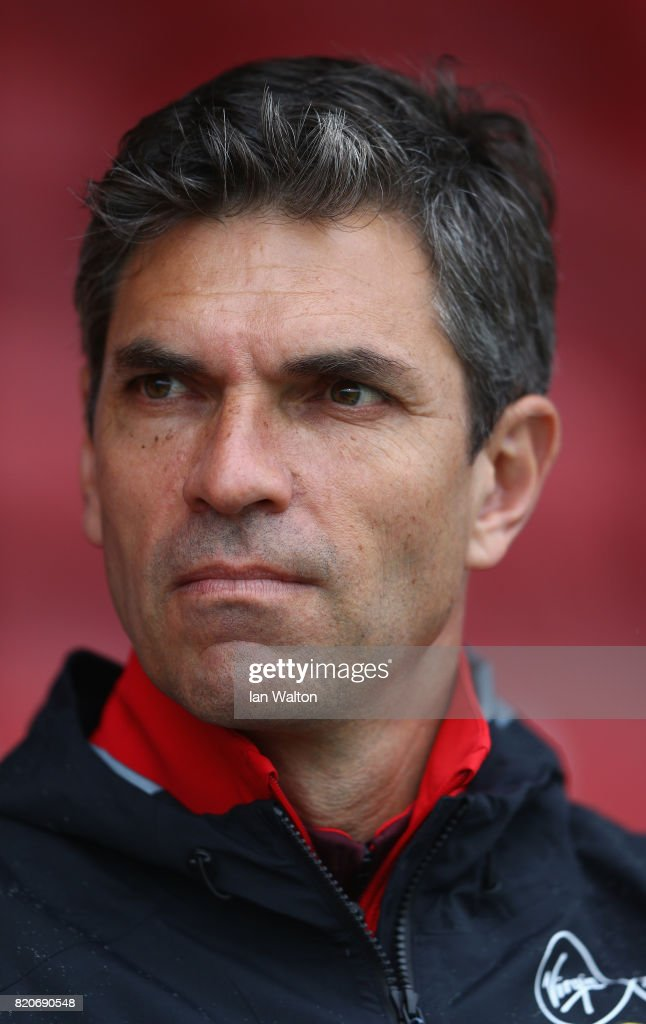Southampton manager Mauricio Pellegrino looks on durin the Pre Season Friendly match between Brentford and Southampton at Griffin Park on July 22, 2017 in Brentford, England.