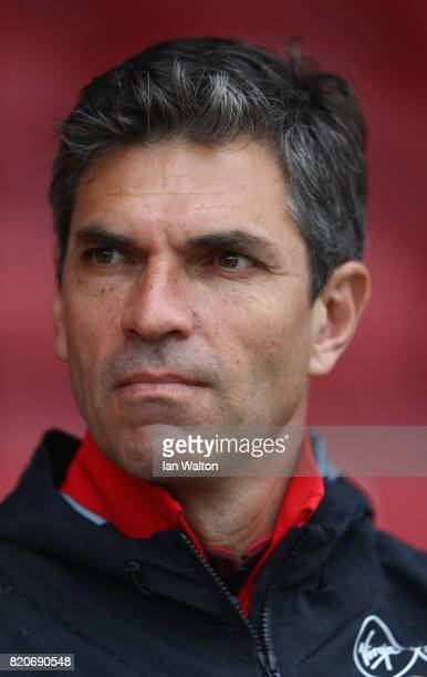 Southampton manager Mauricio Pellegrino looks on durin the Pre Season Friendly match between Brentford and Southampton at Griffin Park on July 22...