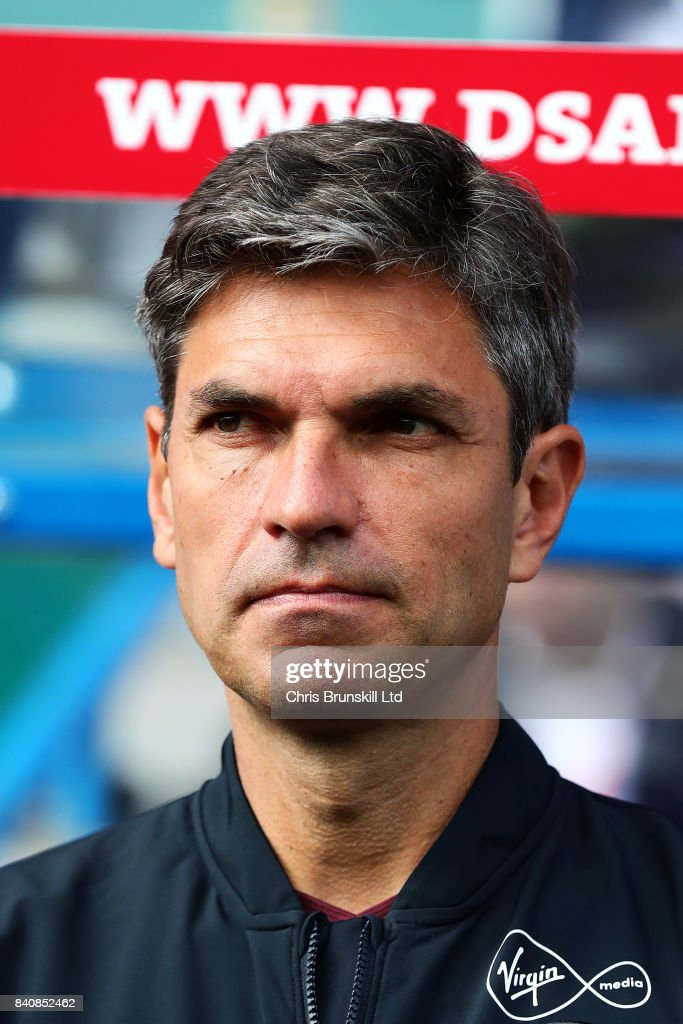 Southampton manager Mauricio Pellegrino looks on during the Premier League match between Huddersfield Town and Southampton at the John Smith's Stadium on August 26, 2017 in Huddersfield, England.