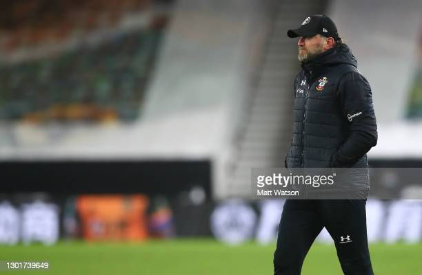 Southampton manager Ralph Hasenhüttl during The Emirates FA Cup Fifth Round match between Wolverhampton Wanderers and Southampton at Molineux on...