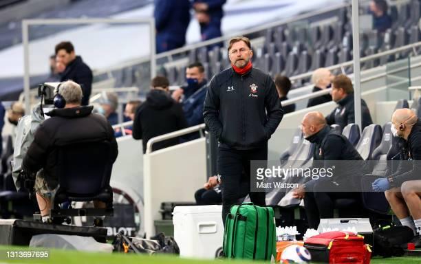 Southampton manager Ralph Hasenhüttl during the Premier League match between Tottenham Hotspur and Southampton at Tottenham Hotspur Stadium on April...