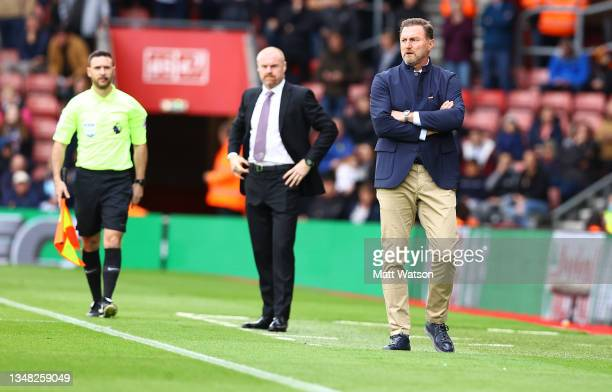 Southampton manager Ralph Hasenhüttl during the Premier League match between Southampton and Burnley at St Mary's Stadium on October 23, 2021 in...
