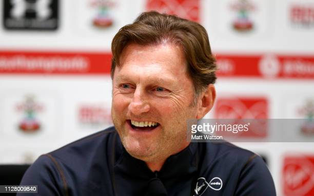 Southampton manager Ralph Hasenhuttl during a Southampton FC press conference at the Staplewood Campus on February 07 2019 in Southampton England