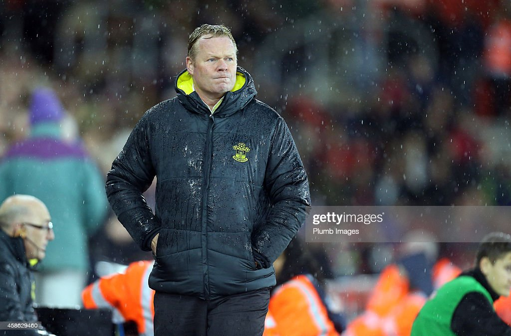 Southampton manager Ronald Koeman during the Barclays Premier League match between Southampton and Leicester City at St Mary's Stadium on November 8, 2014 in Southampton, England.