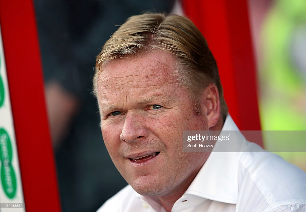 Southampton manager Ronald Koeman during the Pre Season Friendly between Swindon Town and Southampton on July 21, 2014 in Swindon, England.