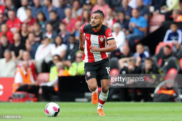 Southampton midfielder Sofiane Boufal in action during the Premier League match between Southampton and Manchester United at St Mary's Stadium...