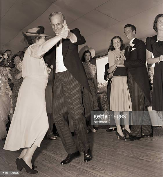 7/13/1940 Southampton NY Mr and Mrs Henry Ford waltzing during he reception that followed the marriage of their grandson Henry Ford II to Anne...