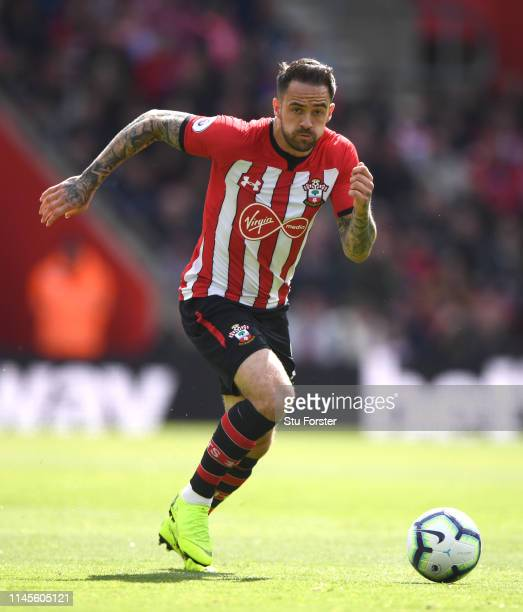 Southampton player Danny Ings in action during the Premier League match between Southampton FC and AFC Bournemouth at St Mary's Stadium on April 27,...